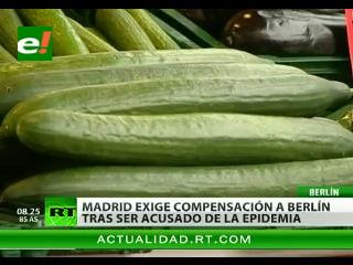 """España exige compensaciones a Alemania por la """"crisis del pepino"""""""
