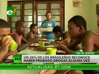 """En Brasil hasta los niños de 10 años """"juegan"""" con las drogas"""