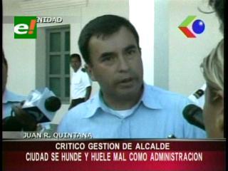 Quintana arremete contra la gestión de la Alcaldía de Trinidad