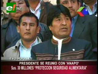 Evo Morales se reunió con Anapo, acuerdan impulsar proyectos de seguridad alimentaria