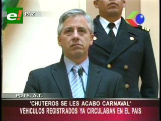 Vicepresidente advierte a «chuteros» y dice que se les acabó su carnaval