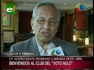 """Victor Hugo Cárdenas: """"Preselección de candidatos fue una chacota, bienvenidos al club del voto nulo"""""""