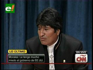 """Evo Morales: """"Le tengo mucho miedo al Gobierno de EEUU"""""""