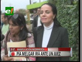 Pía Melgar se presentará ante el juez por el delito de manipulación informática