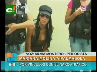 Envían a la cárcel de Palmasola a la modelo Mariana Molina