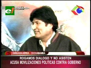 Evo Morales asegura que las movilizaciones contra su Gobierno son políticas