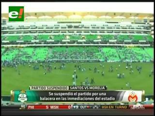 México: Suspenden partido de  fútbol por balacera fuera del estadio