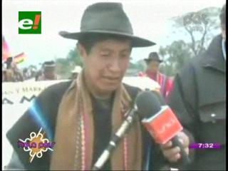 """Rafael Quispe: """"Evo Morales está acostumbrado a echar lodo a las movilizaciones"""""""