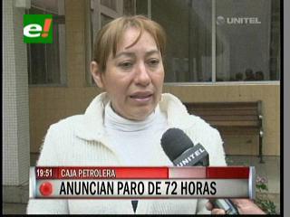 Caja Petrolera de Santa Cruz anuncia paro de actividades de 72 horas