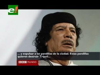 Gadafi urge a sus seguidores a levantarse en armas
