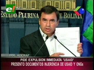 Quintana: Cidob recibió millones de dólares de EEUU a través de la USAID