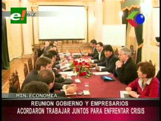 Gobierno se reunió con los empresarios, acordaron trabajar juntos para enfrentar la crisis económica