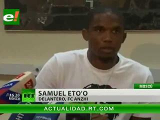 Samuel Eto'o llega a Moscú para integrarse en el FC Anzhí de Majachkalá