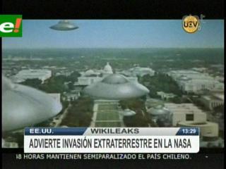 WikiLeaks revela documento clasificado sobre  una invasión alienígena