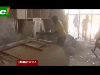 Lo que no se había visto del cuartel de Gadafi