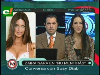 Susy Diab y Zaira Nara estarán en la Expocruz 2011