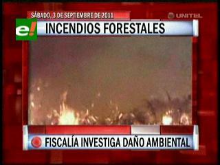 Incendios forestales en Santa Cruz, Fiscalía investiga daño ambiental