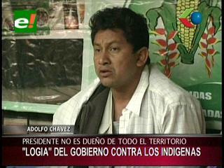"""Adolfo Chávez: """"Una logia del Vicepresidente quiere dañar a los indígenas"""""""