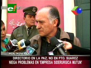 Ministro de Minería niega problemas en el Mutún y da su apoyo al Presidente de la ESM
