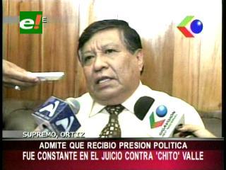 """Ex presidente de la CSJ admitió que sufrió presión política por el juicio de """"Chito"""" Valle"""