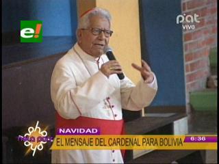 Cardenal pide festejar las fiestas en Paz y Armonía