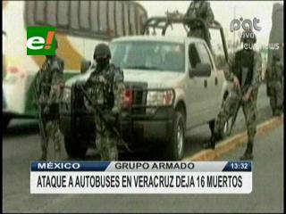 Grupo armado mata a 16 personas en ataque a autobuses en México