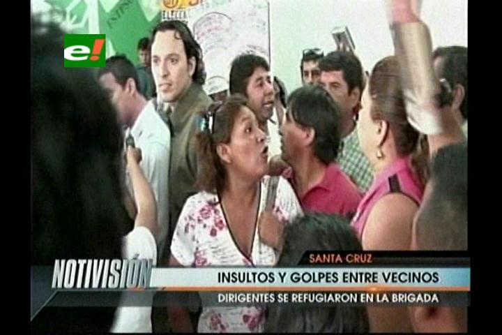 Santa Cruz: Insultos y golpes entre vecinos por la Carta Orgánica Municipal