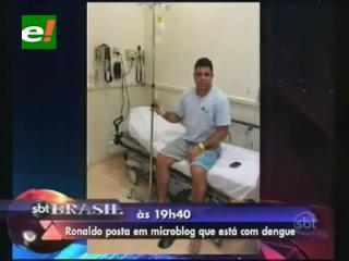 Ronaldo contrajo dengue y fue internado