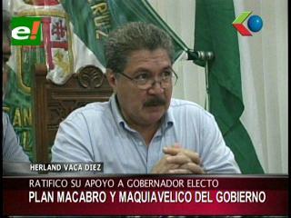 Líder cívico cruceño denuncia plan «macabro» del Gobierno contra la oposición