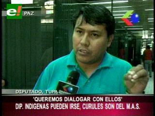 Diputado Tupa: «Los parlamentarios indígenas pueden irse, pero los curules se quedan con el MAS»