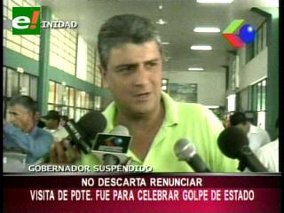 Ernesto Suárez: «Visita de Evo Morales fue para celebrar Golpe de Estado en el Beni»