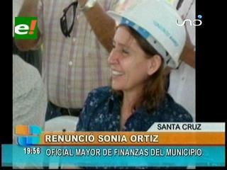 Renunció la Oficial Mayor de Finanzas del Municipio cruceño Sonia Ortiz