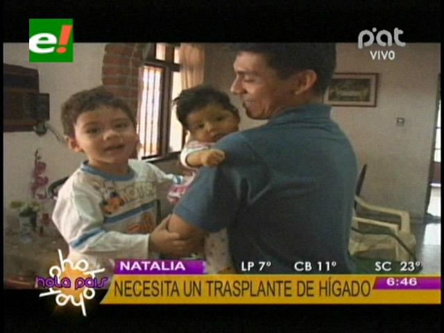 La historia de Natali: Será operada hoy del hígado