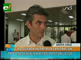Concejal Rodrigo Paz denuncia que Repsol es la causante del conflicto por el Campo Margarita