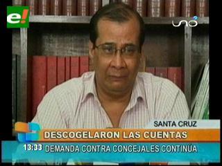 Gobierno descongela las cuentas de la Alcaldía cruceña