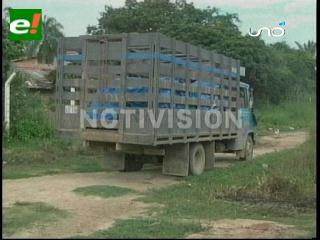 Felcn intercepta un camión con precursores químicos, hay un colombiano detenido
