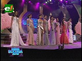 Miss Bolivia 2012: Las 8 finalistas