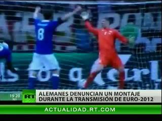 Denuncian montaje durante la transmisión de partidos de la Eurocopa 2012