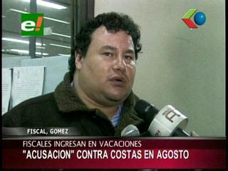Acusación contra Rubén Costas llegará a la Asamblea a mediados de agosto