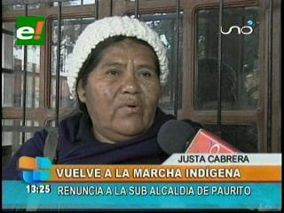 Justa Cabrera renunciará como sub alcaldesa para sumarse a la IX marcha indígena