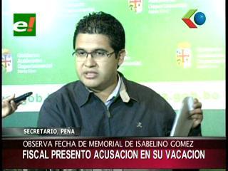 Observan memorial de acusación contra Costas, fiscal Gómez lo habría firmado en su vacación