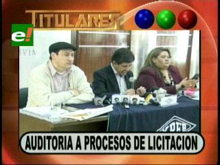 Corrupción: Presidente de YPFB anuncia auditorías en los procesos de licitación