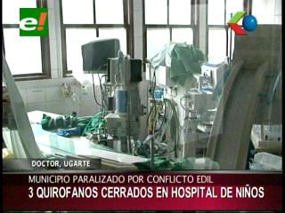 Repararán el área de quirófanos en el Hospital del Niño