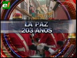 La Paz festeja con civismo sus 203 años de grito libertario