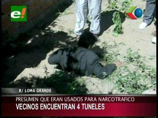 Hallan cuatro túneles en un barrio de Santa Cruz