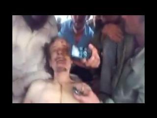 Nuevo vídeo del cadáver de Muamar Gadafi