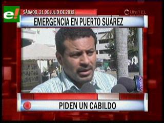 Emergencia en Puerto Suárez, anuncian medidas de presión exigiendo la reactivación del proyecto Mutún