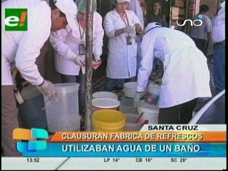 Clausuran fábrica de refrescos, utilizaban agua de un baño