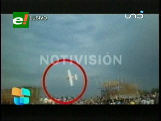 Así cayó la avioneta en San Joaquín, fiesta patronal terminó en tragedia