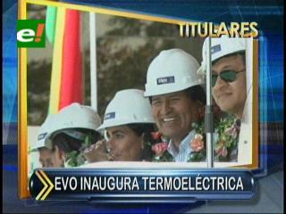 ENDE estrena nueva turbina en Huaracachi, Evo estuvo en la inauguración